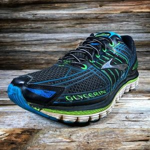 Brooks Glycerin 12 Black Blue Men Running Shoes
